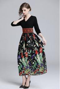 19a431d96 Vestido Midi Floral Chifon - Calçados, Roupas e Bolsas no Mercado ...