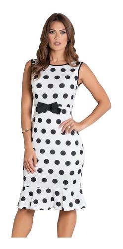 vestido moda evangélica tubinho midi feminino blogueira midi
