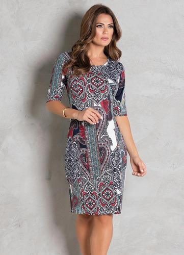 vestido moda evangélica tubinho midi festa justo blogueira
