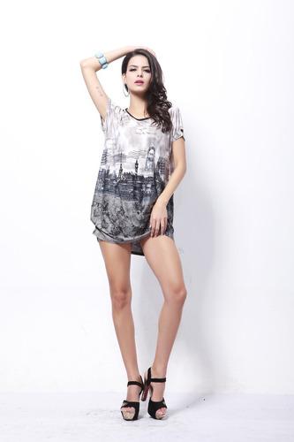 vestido moda juvenil hipster mujer estampado temporada calor