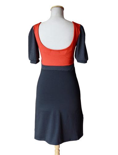 vestido modal pin up retro lunares diseño escote corazón