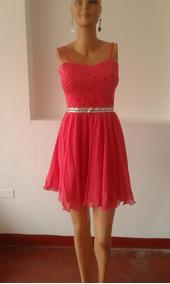 Vestido Modelo Corsel Talla S Color Coral