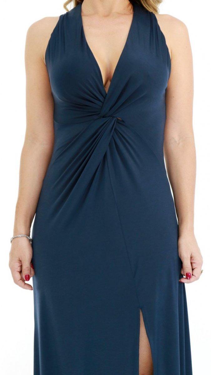 79fee1e29a vestido morena rosa longo azul escuro oi18. Carregando zoom.