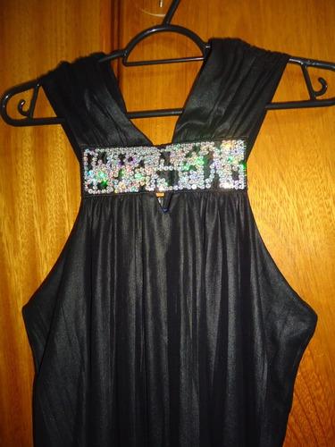 vestido morena rosa preto com paetês