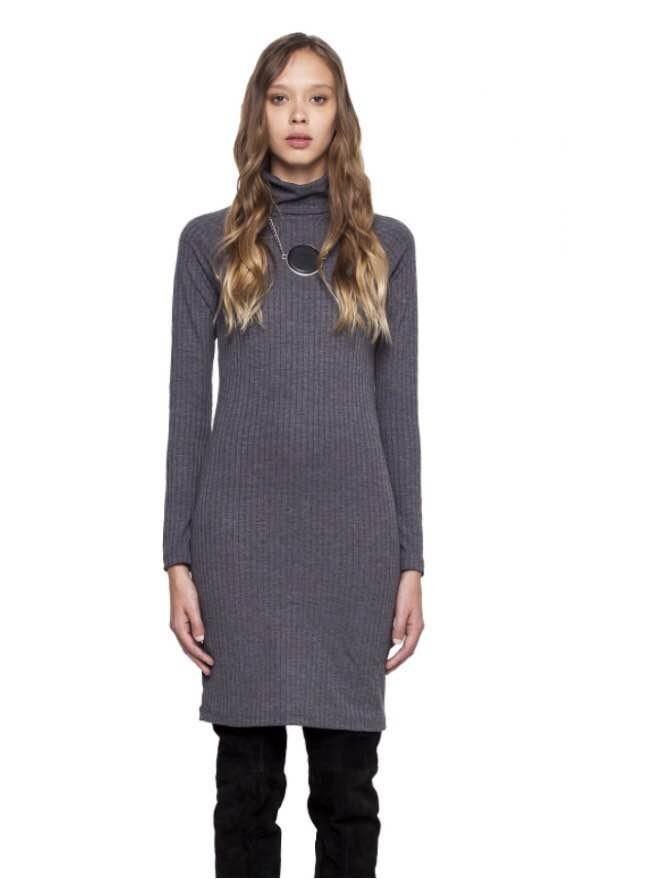 Vestido invierno gris