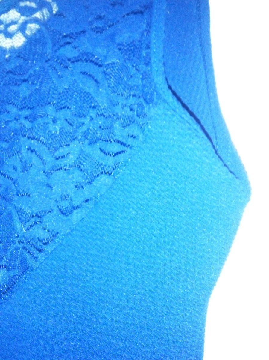 Vestido azul electrico con encaje