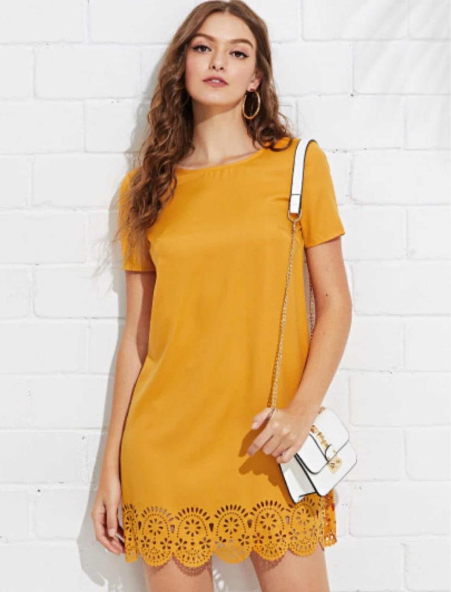 f2e2d1249a Vestido Mujer Casual Amarillo Fiesta Noche Dia -   365.00 en Mercado ...