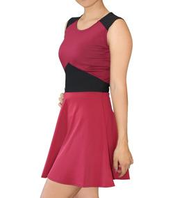 079269ac03 Vestido Mujer Casual Juvenil Corto Falda Circular 10209-8