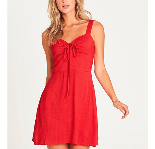 vestido mujer cherry kisses rojo billabong