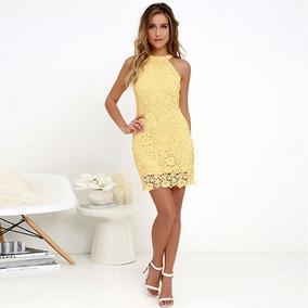 640e7b0b62e Vestidos Para Coctel Amarillo en Mercado Libre Colombia