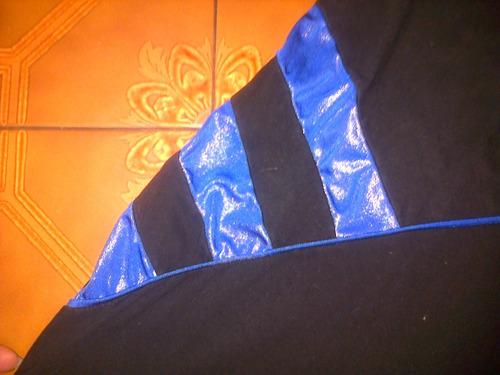 vestido mujer elastizado convinado con azul destello