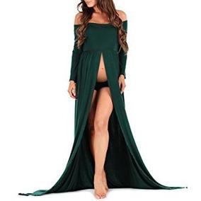 6ab88496e Vestido Mujer Embarazada Color Verde Talla S Marca Mother Be