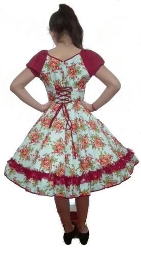 vestido mujer  huasa cueca china envio gratis