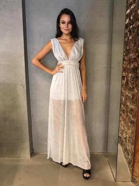 Vestido Mujer Importado Plisado Tendencia 2019 Varios Colore