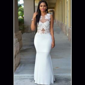 85543b7907ca Vestido Mujer Largo Elegante Económico Coctel Fiesta Novia