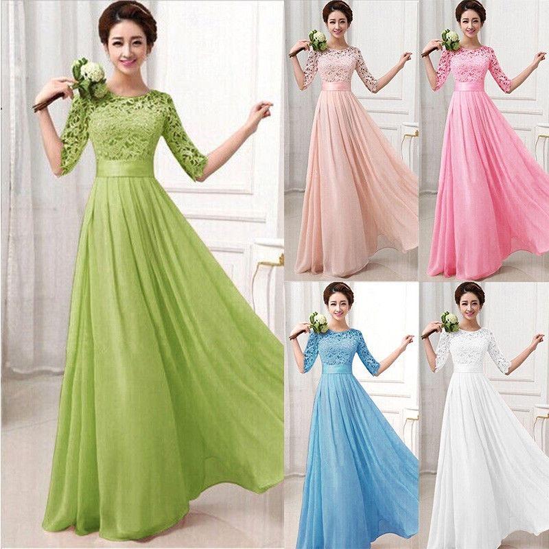 e5d8124cc7a vestido mujer largo elegante fiesta bonito barato economico. Cargando zoom.
