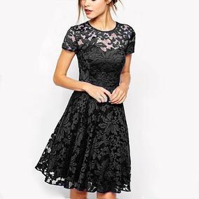 d40e7fc422 Vestido Mujer Negro Talla 11 Y 13 Fiesta Elegante