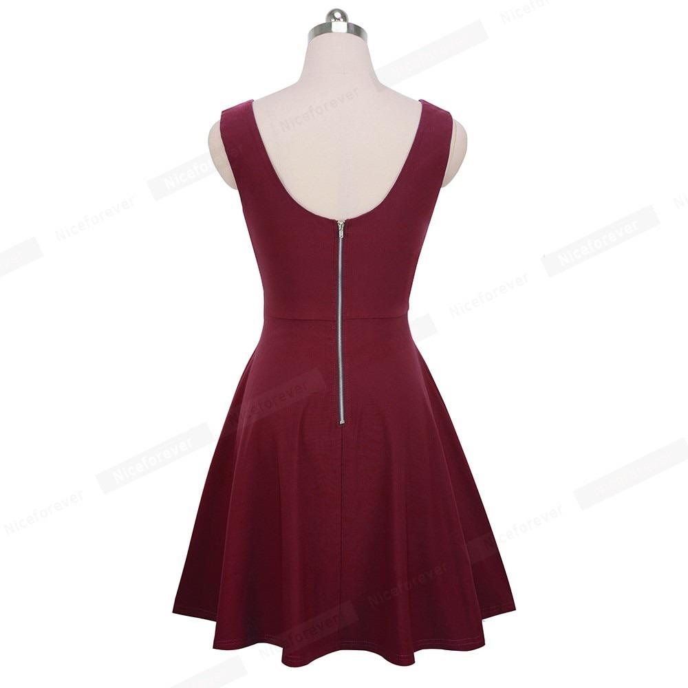 b99fa869e vestido mujer retro 50s cuello v circular casual y juvenil. Cargando zoom.
