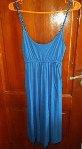 vestido mujer reversible celeste y azul