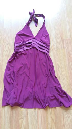 vestido mujer violeta formal