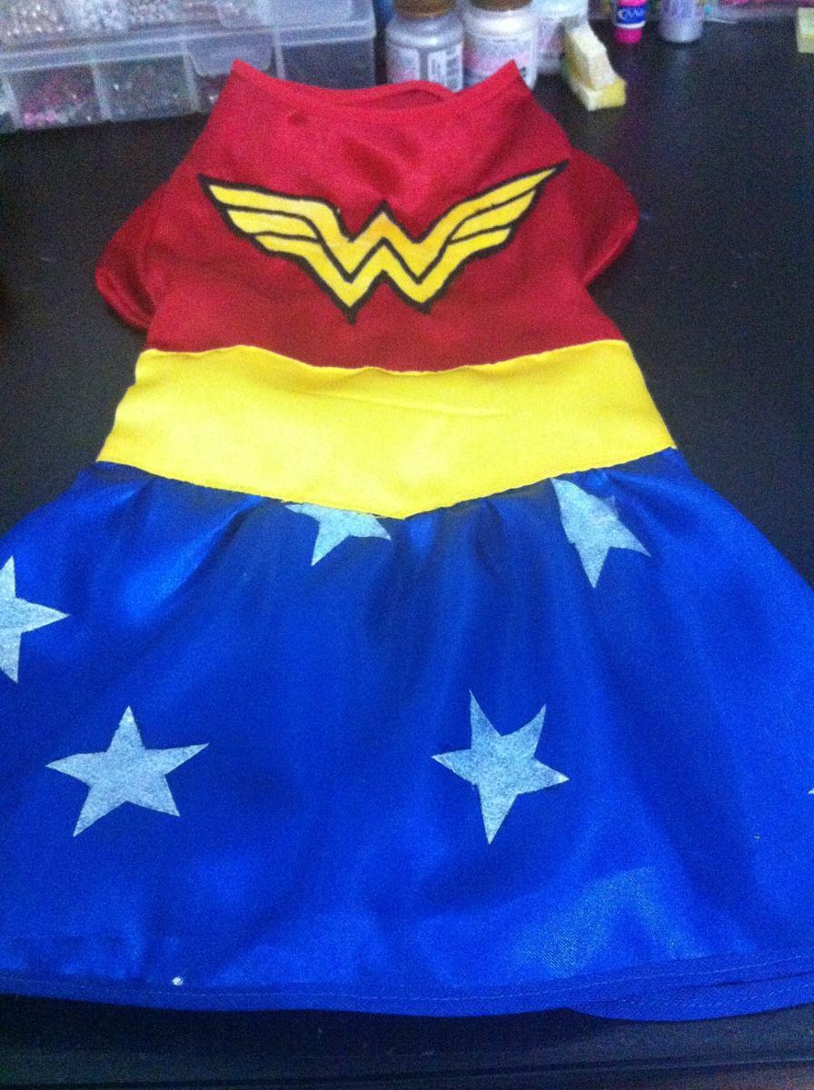 6357ff219 Vestido Mulher Maravilha Para Pet - R$ 45,00 em Mercado Livre