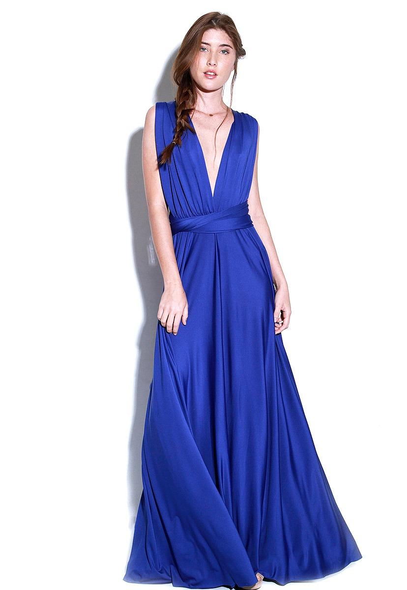 Lob vestido azul largo