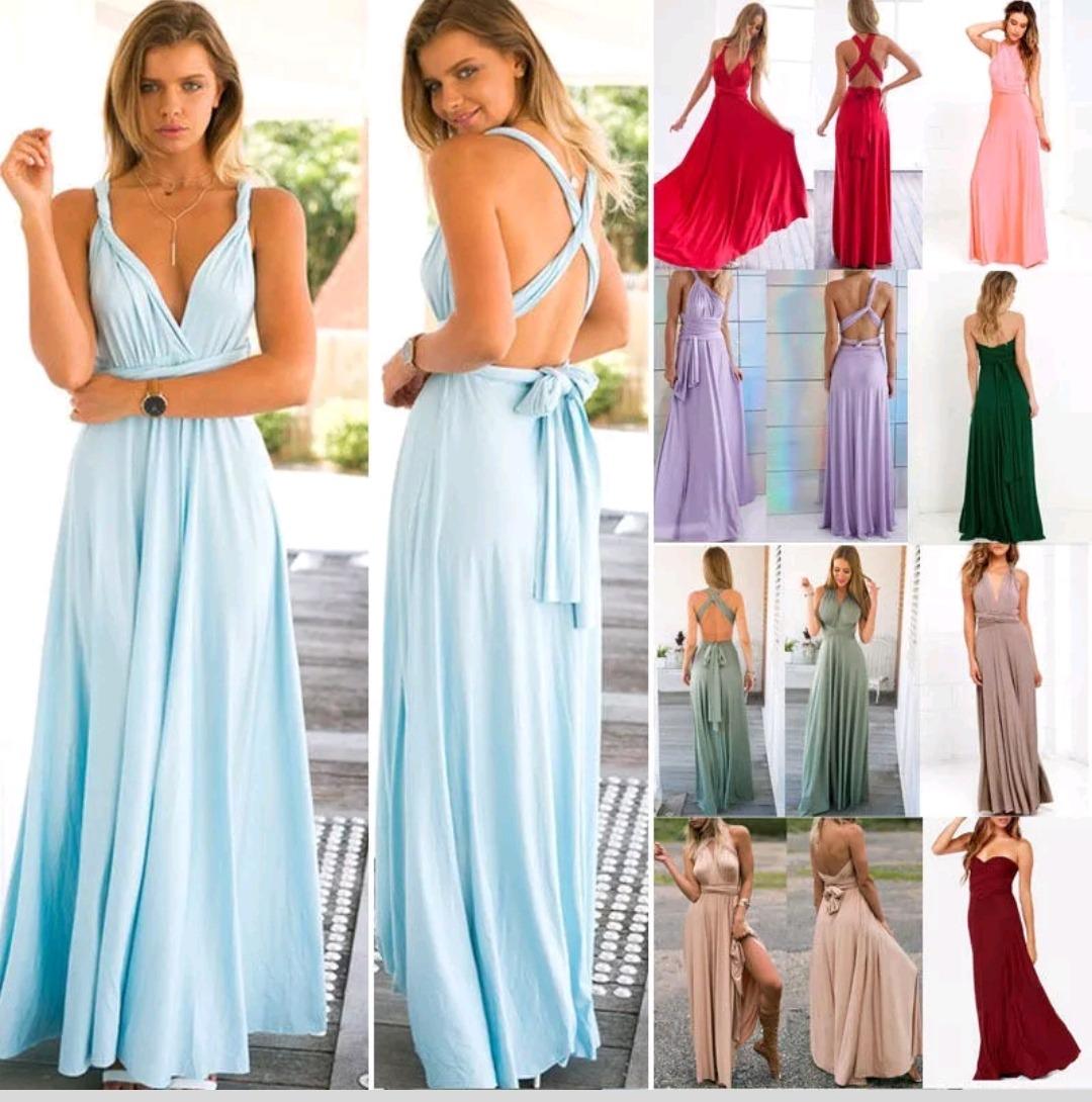 Vestido Multiuso Mil Formas Casual De Fiesta Damas De Honor