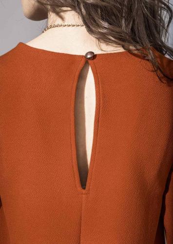 vestido naranja 1387636