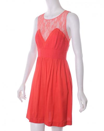 vestido naranja sandro