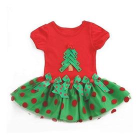 Vestido Navidad Para Bebes Y Niñas T 6 M - 1 Año