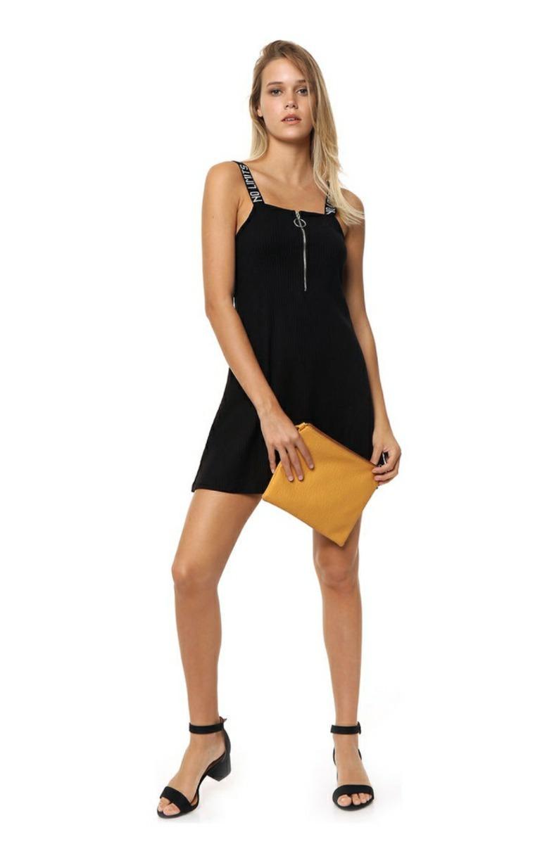 Vestido negro algodon