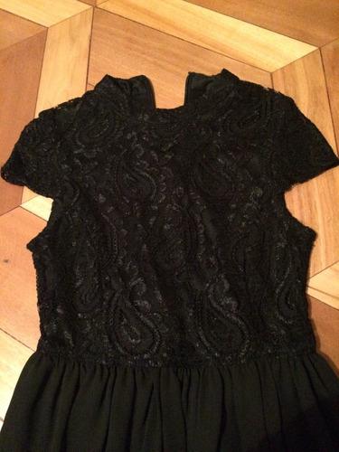 vestido negro - asos petite