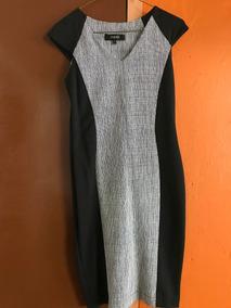 Vestido Negro Bicolor Julio Talla 2 Nuevo