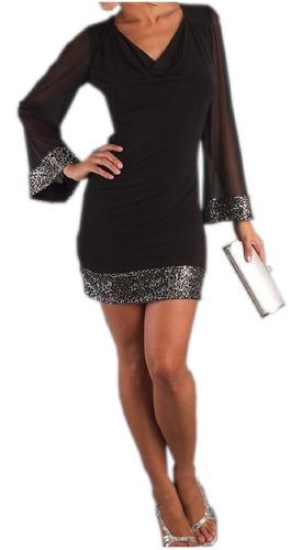 vestido negro brillantes,sexy de fiesta graduacion, coctel 9