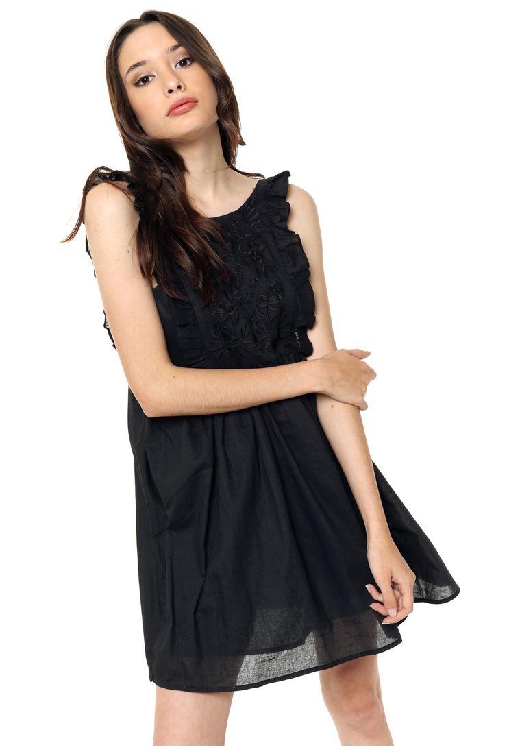 Vestido Negro Casual Mercadolibre Vestidos Populares 2019