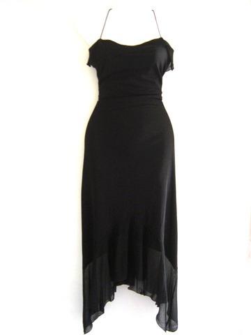 vestido negro coktail, fiesta, talla s/m