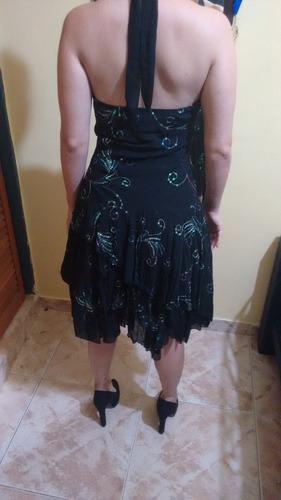 vestido negro con brillos, talla m excelente condiciones.