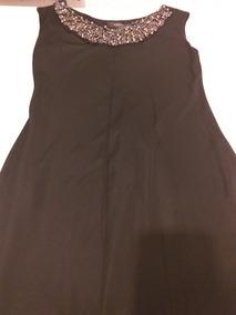 Vestido Negro Con Decorado De Collar Marca Julio
