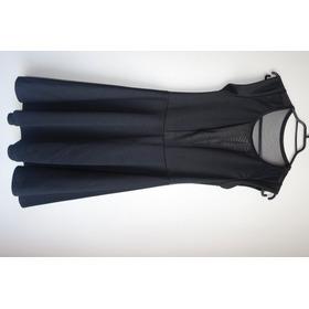 Vestido Negro Con Transparencias