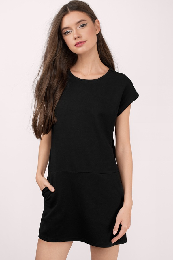 Vestido Forever Vestido Negro Casual Corto 8n0woxpk