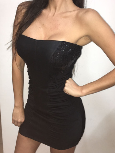 vestido negro corto de fiesta