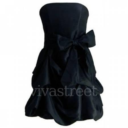 vestido negro corto de fiesta, graduación, matrimonio