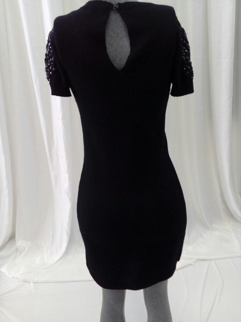 buen servicio aliexpress auténtico Vestido Negro Corto De Lana Pedreria Zara . La Segunda Bazar - $ 950.00