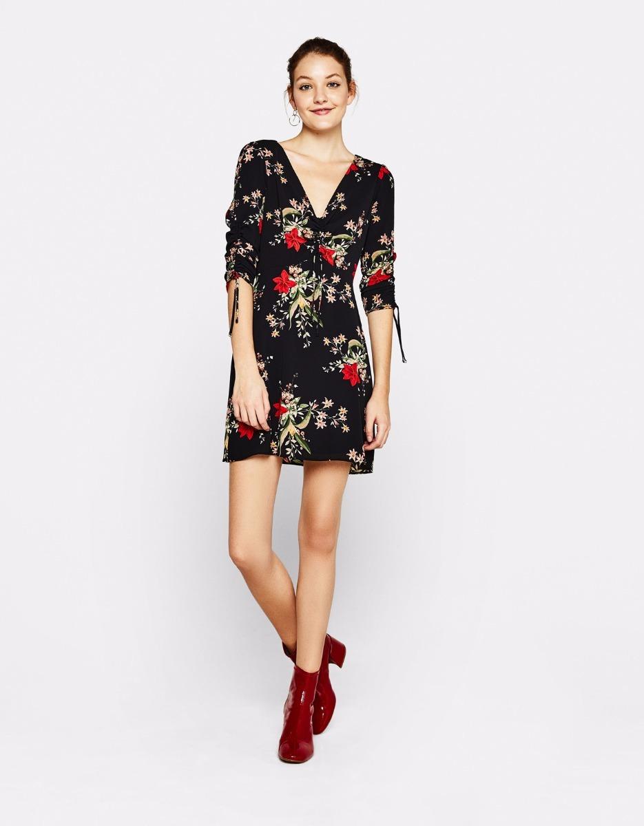 7c0f311b5 Vestido negro flores corto – Vestidos largos