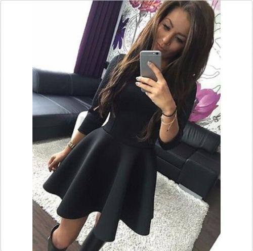 Outfit Con Vestido Negro Corto Vestidos De Noche