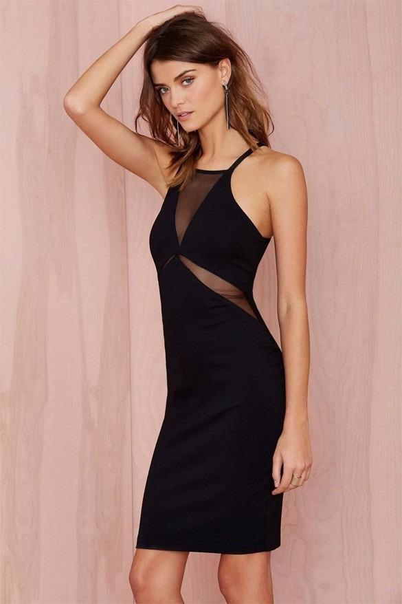 Vestido Negro Corto Fiesta Club Moda 2016 - $ 550.00 en Mercado Libre