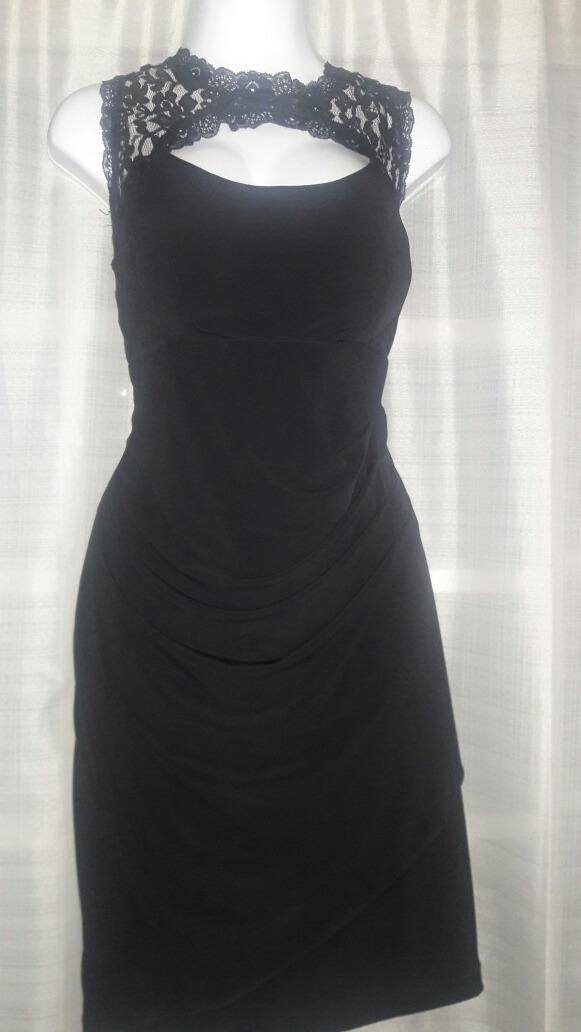 Vestido Negro Corto Liz Minelli