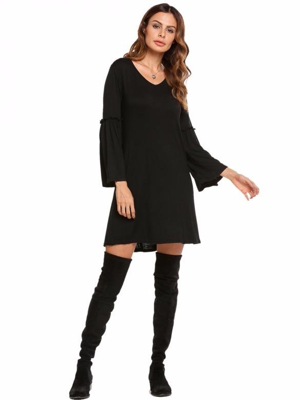 Vestido campana negro