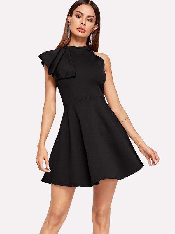 tecnologías sofisticadas extremadamente único mas fiable Vestido Negro Corto Vestidos Fiesta Vestidos De Noche