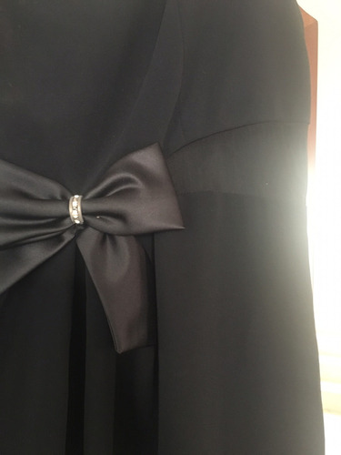 vestido negro dama de gala